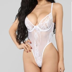 White Lace Teddy